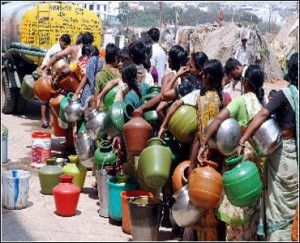 Inspirational image from the internet of women in India waiting in line for water.