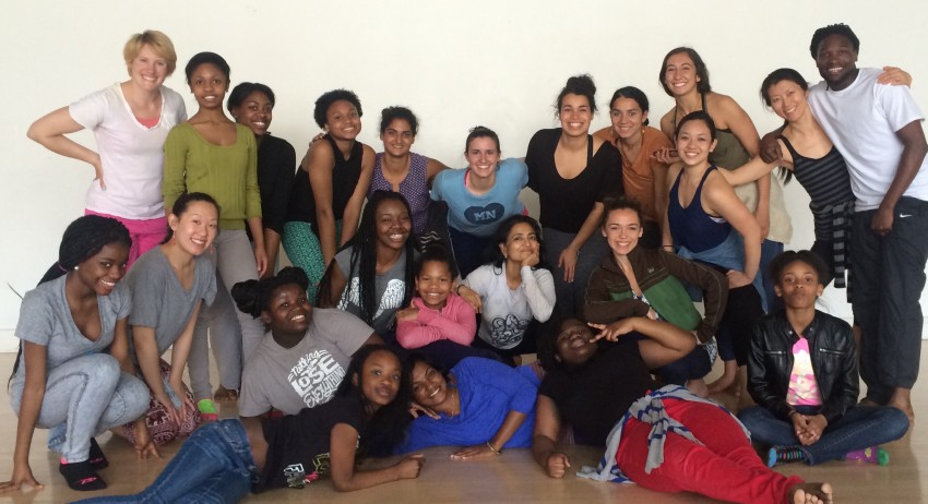 "Master class participants at Links Hall. ""My body feels stirred alive with heat & stomping passions. Thank you."" –@anjalchande, Twitter, 4/15/15"