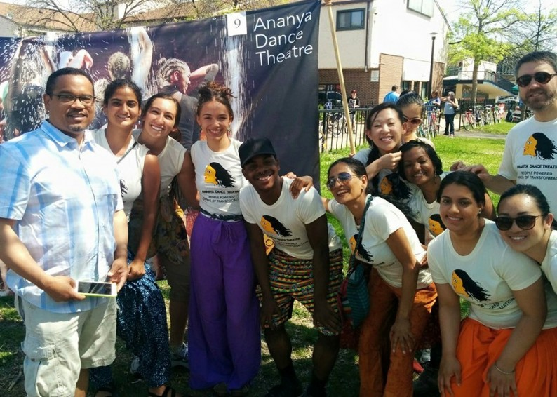 U.S. Rep. Keith Ellison (MN-5) with members of Ananya Dance Theatre before the 2015 May Day Parade.