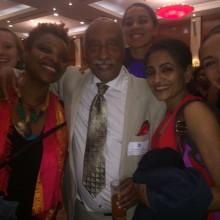 "ADT members with Mulatu Astatke, ""godfather of Ethiopian jazz."" Sept. 24, 2015. Photo by James Davies"