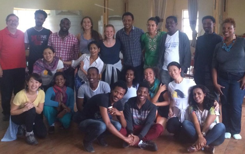 ADT workshop with faculty and students at Addis Ababa University graduate theater program. Sept. 23, 2015. Photo by Gary Peterson
