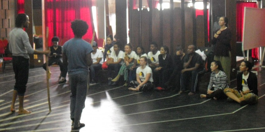 ADT workshop with Destino Dance Company, Sept. 22, 2015. Photo by Gary Peterson