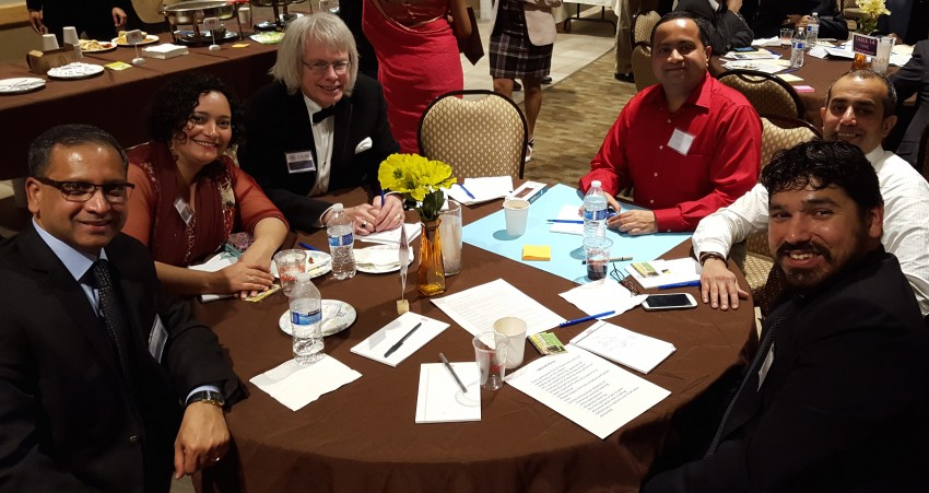 """Table 13"": Roundtable discussions included representatives from Asha for Education, Ananya Dance Theatre, and Bollywood Dance Scene Twin Cities. Asha raises funds for teachers' salaries, child nutrition, and instructional materials at six schools in India."